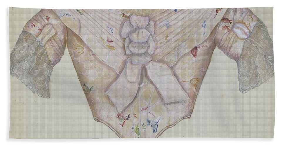 Beach Towel featuring the drawing Bodice by Edna C. Rex