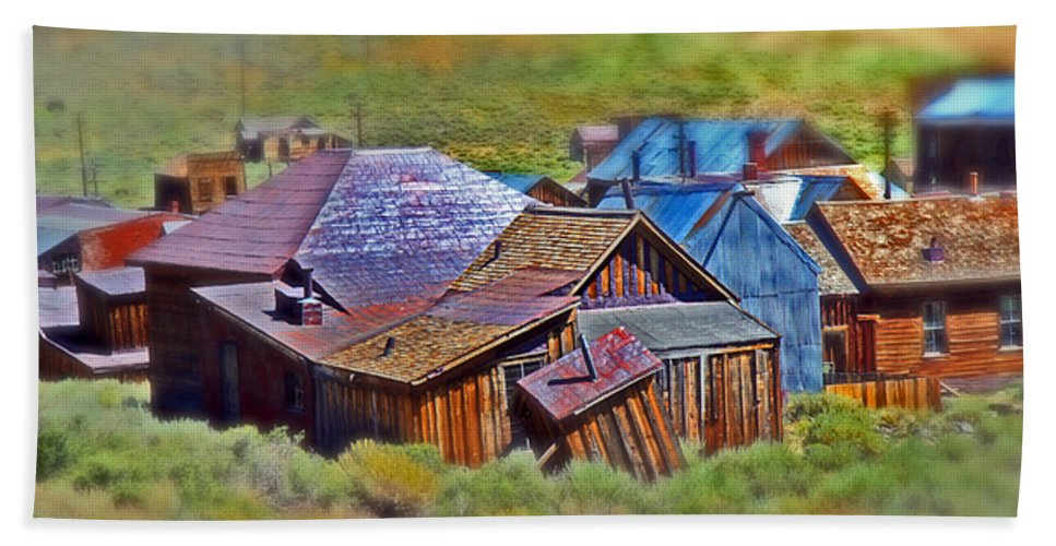 Bodie Ghost Town Beach Towel featuring the photograph Bodie Ghost Town by Chris Brannen