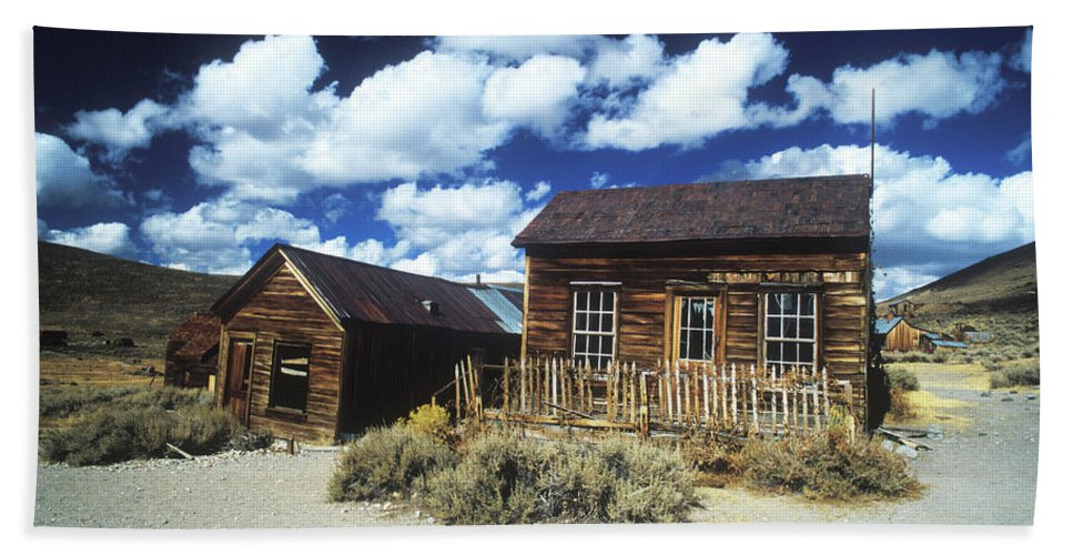 Bodie Beach Towel featuring the photograph Bodie Houses II by Jim And Emily Bush