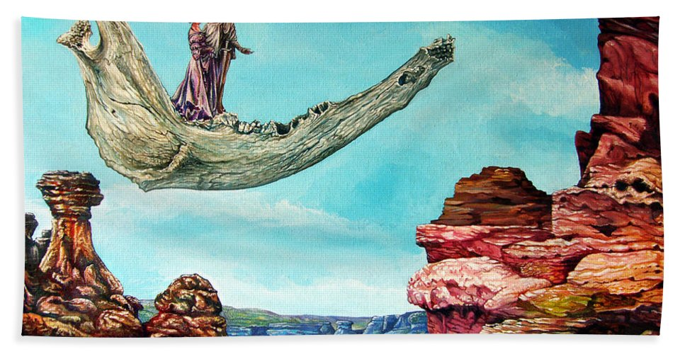 Painting Beach Towel featuring the painting Bogomils Journey by Otto Rapp