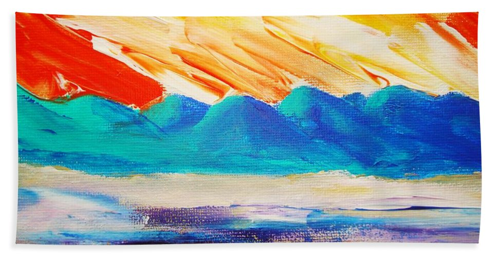 Bright Beach Towel featuring the painting Bold Day by Melinda Etzold