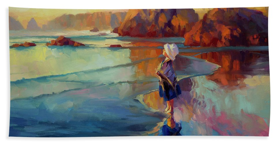 Child Beach Towel featuring the painting Bold Innocence by Steve Henderson