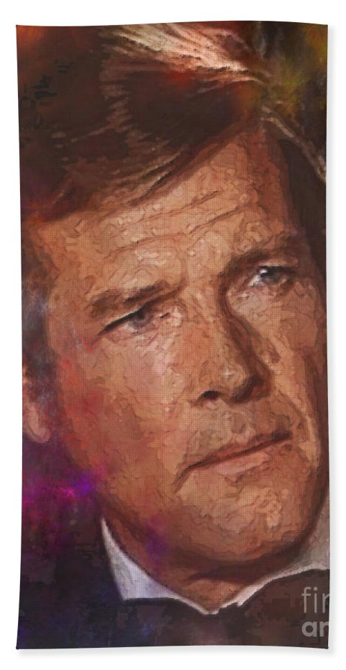 Bond Beach Towel featuring the digital art Bond - James Bond 3 by John Beck