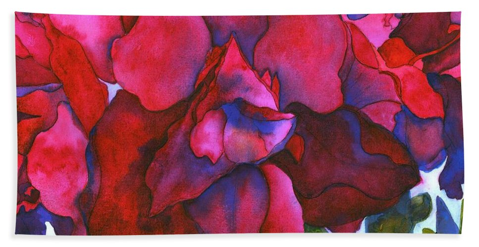 Amaryllis Beach Towel featuring the painting Bonnie by Jeff Friedman