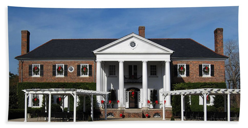 Photography Beach Towel featuring the photograph Boone Hall Plantation Charleston Sc by Susanne Van Hulst