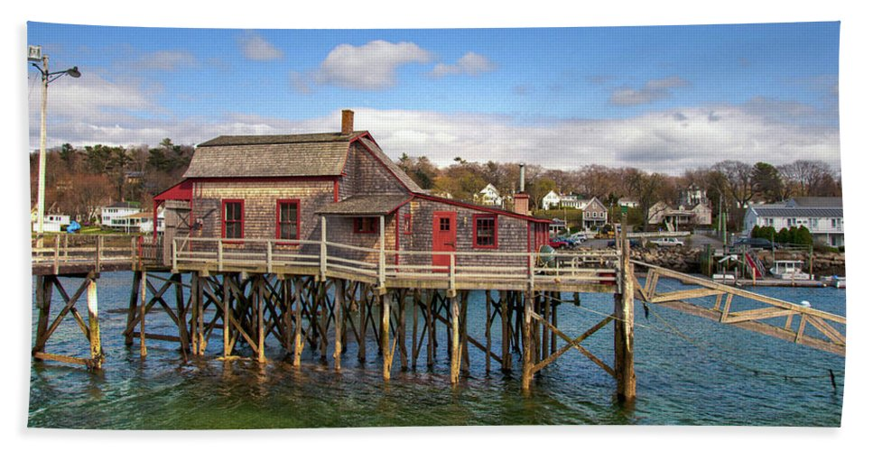 Maine Beach Towel featuring the photograph Boothbay Harbor 02287 by Guy Whiteley