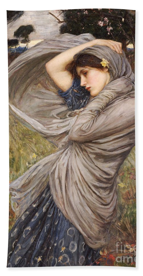 Boreas Beach Towel featuring the painting Boreas by John William Waterhouse