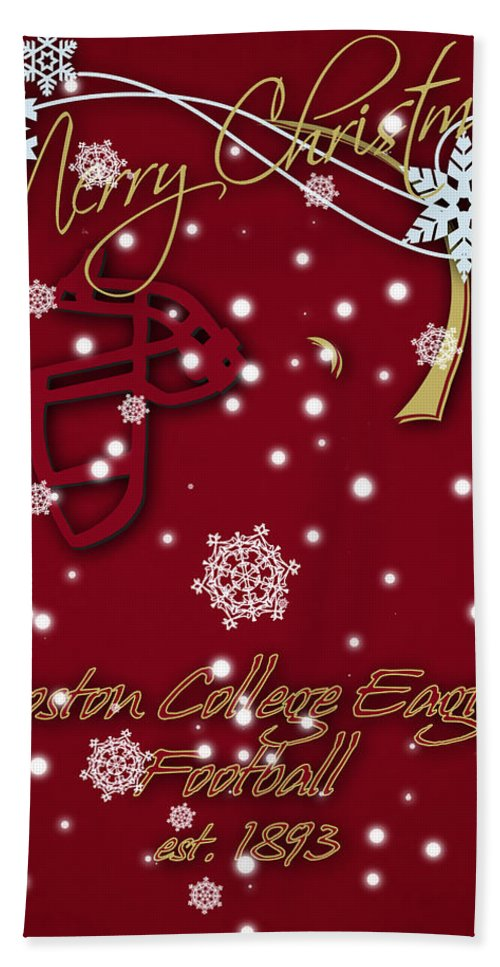 Boston College Eagles Beach Towel featuring the photograph Boston College Eagles Christmas Card by Joe Hamilton