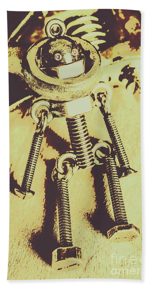 Service Beach Towel featuring the photograph Bot The Builder by Jorgo Photography - Wall Art Gallery