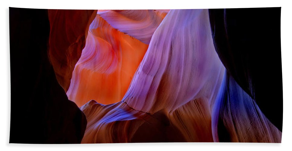 Canyon Beach Towel featuring the photograph Bottled Light by Mike Dawson