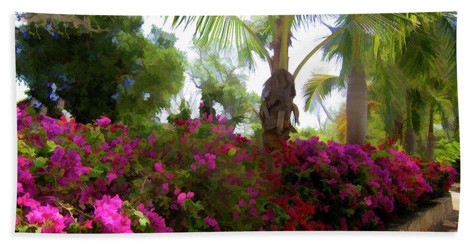 Bougainvilleas Beach Towel featuring the photograph Bougainvillea Magic by Douglas Barnard