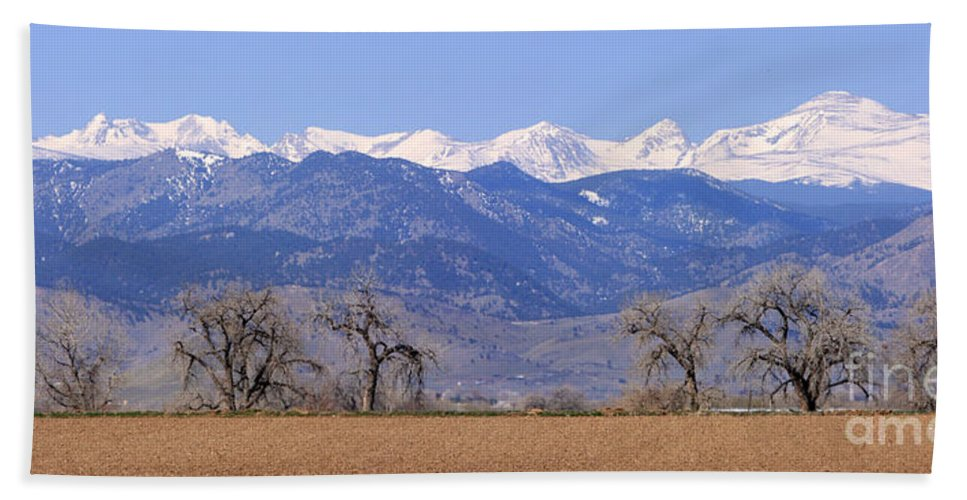 Boulder Beach Towel featuring the photograph Boulder County Colorado Panorama by James BO Insogna
