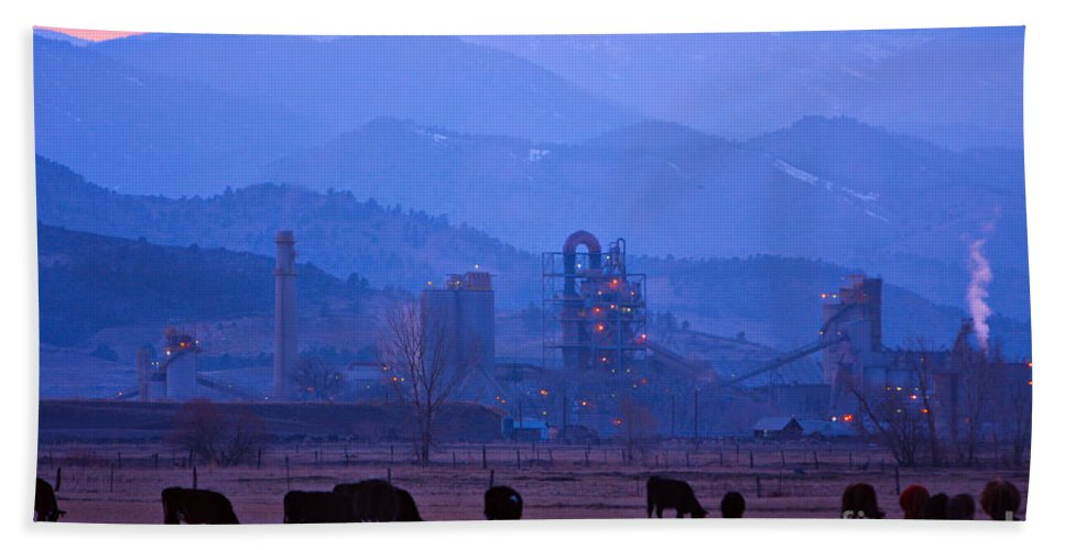 Boulder Beach Towel featuring the photograph Boulder County Industry Meets Country by James BO Insogna