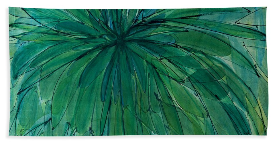 Abstract Beach Towel featuring the painting Bound For Glory by Lynne Taetzsch