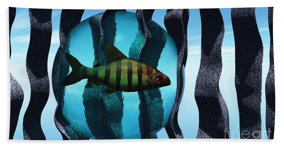 Surreal Beach Towel featuring the digital art Bound by Richard Rizzo