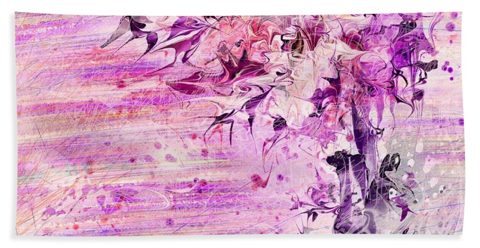 Abstract Beach Towel featuring the digital art Bouquet by William Russell Nowicki