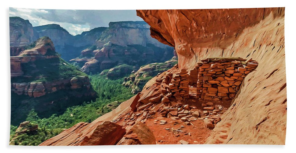 Sedona Arizona Beach Towel featuring the photograph Boynton Canyon 08-174 by Scott McAllister