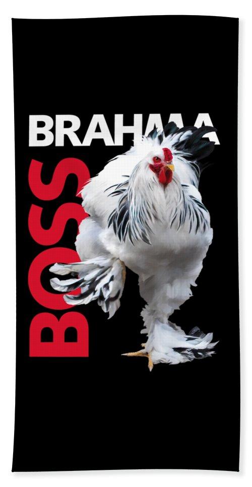 Brahma Beach Towel featuring the digital art Brahma Boss T-shirt Print by Sigrid Van Dort