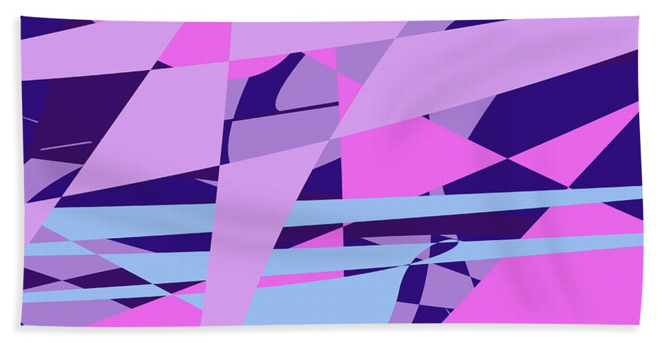 Abstract Beach Towel featuring the digital art Brain Storming by Laura Greco