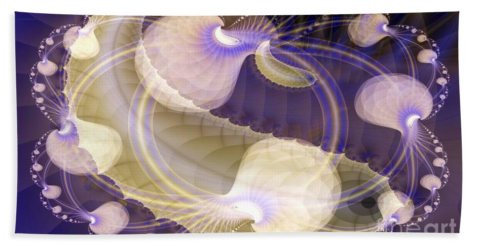 Brains Beach Towel featuring the digital art Brains In Motion 1 by Ron Bissett