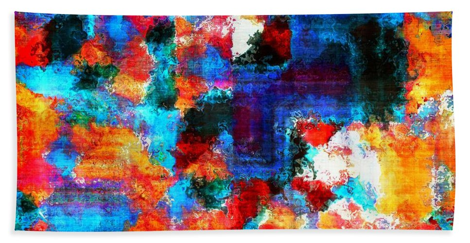 Abstract Beach Towel featuring the painting Breaking The Rules by RC DeWinter