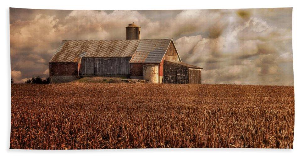 Farm Beach Towel featuring the photograph Breaking Through by Lois Bryan