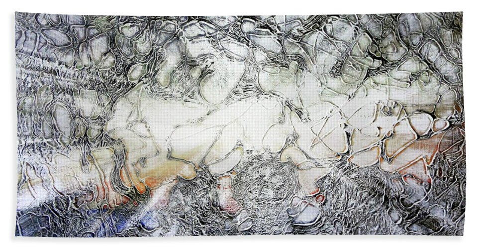 Big Island Beach Towel featuring the painting Breakthrough by Ethel Mann