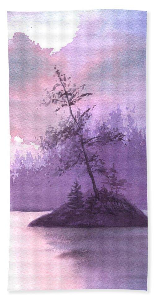 Landscape Beach Sheet featuring the painting Breakthrough by Lynn Quinn