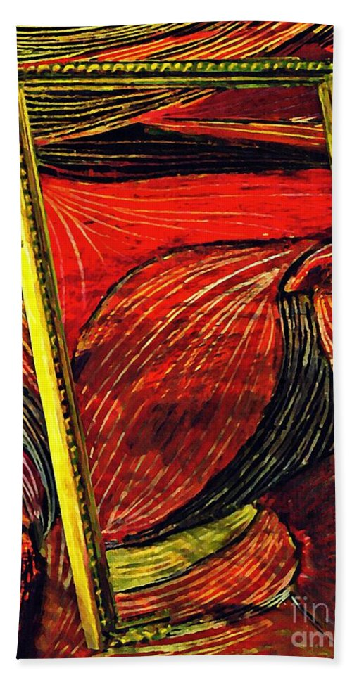 Wave Beach Towel featuring the mixed media Breakthrough by Sarah Loft