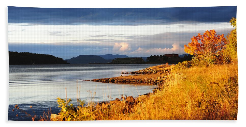 October Beach Towel featuring the photograph Breathing The Autumn Air by Randi Grace Nilsberg