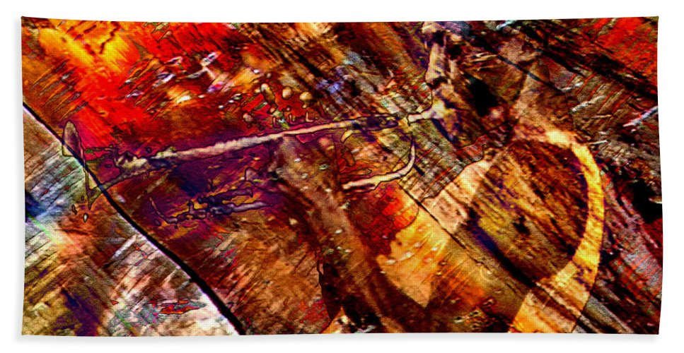 Miles Davis Beach Towel featuring the digital art Brew by Ken Walker