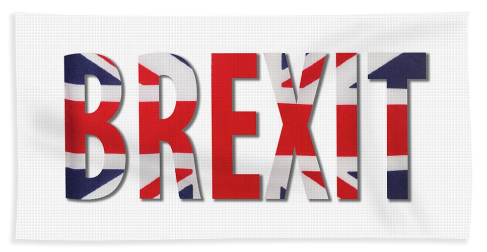 Brexit Beach Towel featuring the photograph Brexit by Diane Macdonald