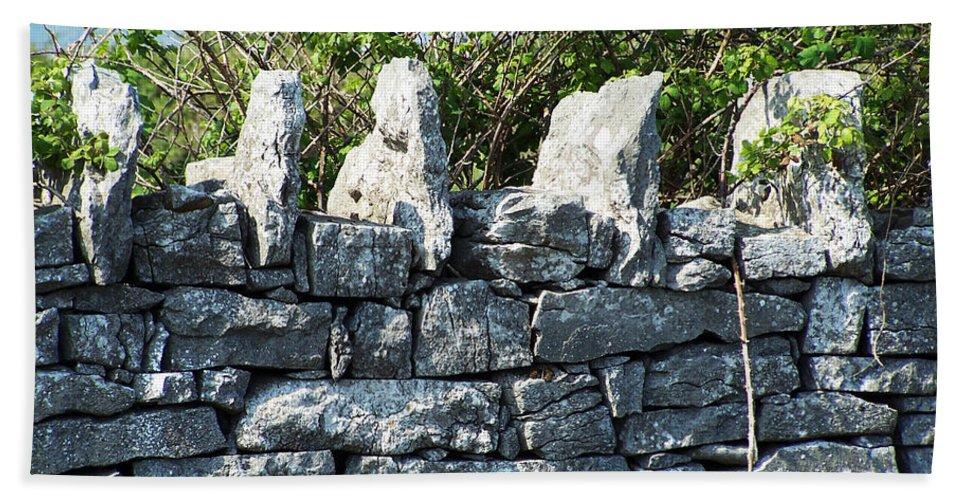 Irish Beach Sheet featuring the photograph Briars And Stones New Quay Ireland County Clare by Teresa Mucha