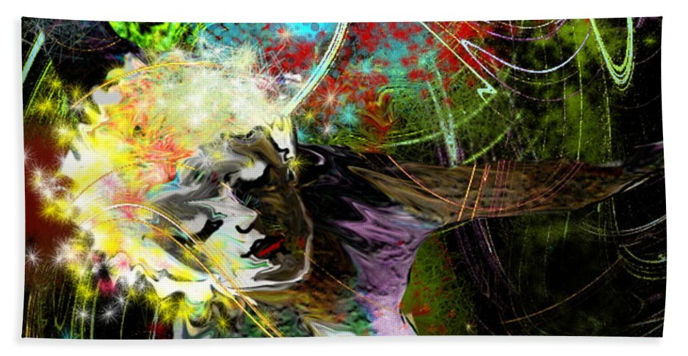 Fantasy Beach Towel featuring the painting Bride Of Halos by Miki De Goodaboom