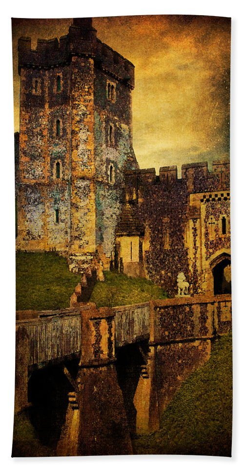 Arundel Beach Towel featuring the photograph Bridge And Portal At Arundel by Chris Lord