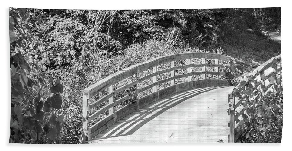 Outdoor Beach Towel featuring the photograph Bridge In The Path I by Lori Lynn Sadelack