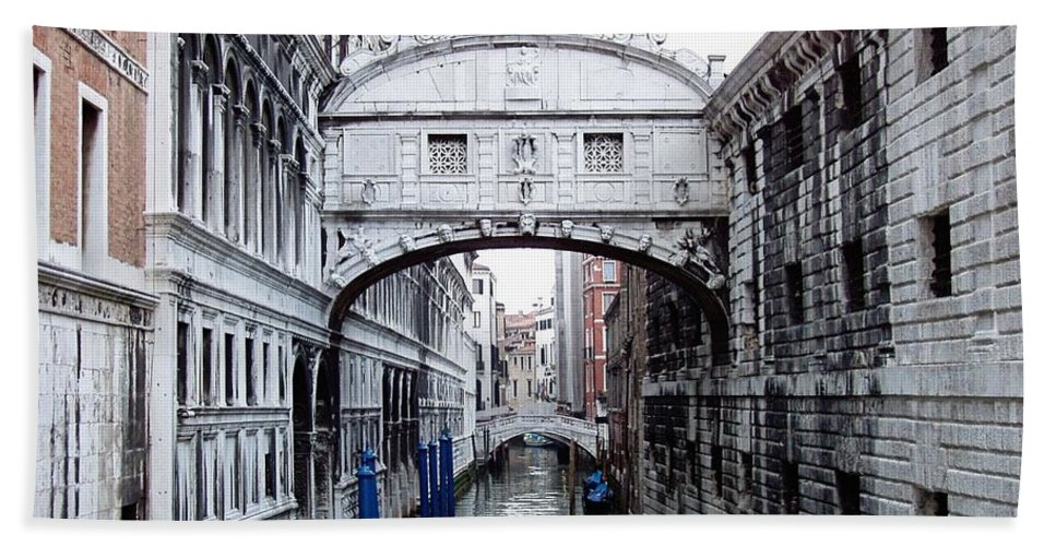 Bridge Of Sighs Beach Towel featuring the photograph Bridge Of Sighs by Jenny Hudson
