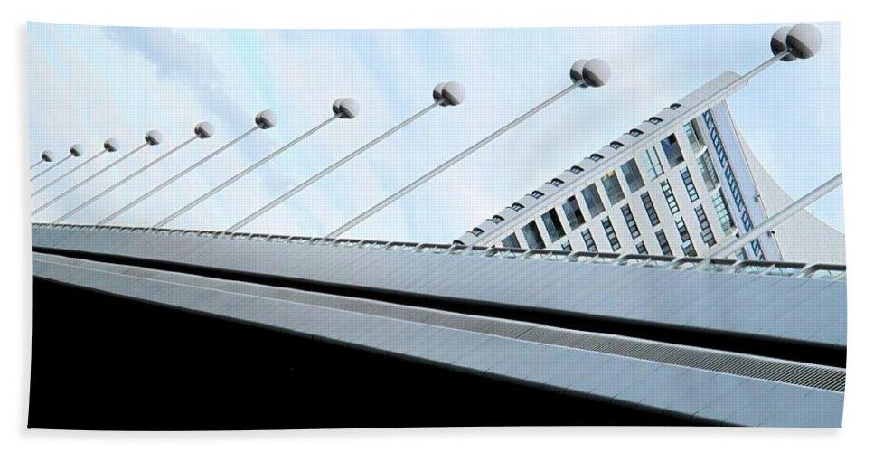Vienna Beach Towel featuring the photograph Bridge Over The Danube by Ian MacDonald