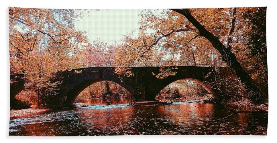 Bridge Beach Towel featuring the photograph Bridge Over Yellow Breeches Creek by Paul Kercher