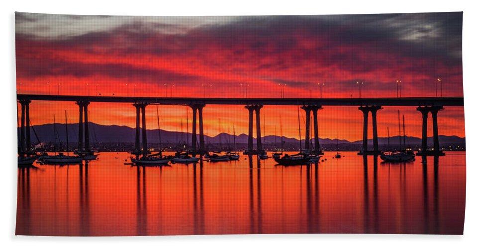 California Beach Sheet featuring the photograph Bridgescape by TM Schultze