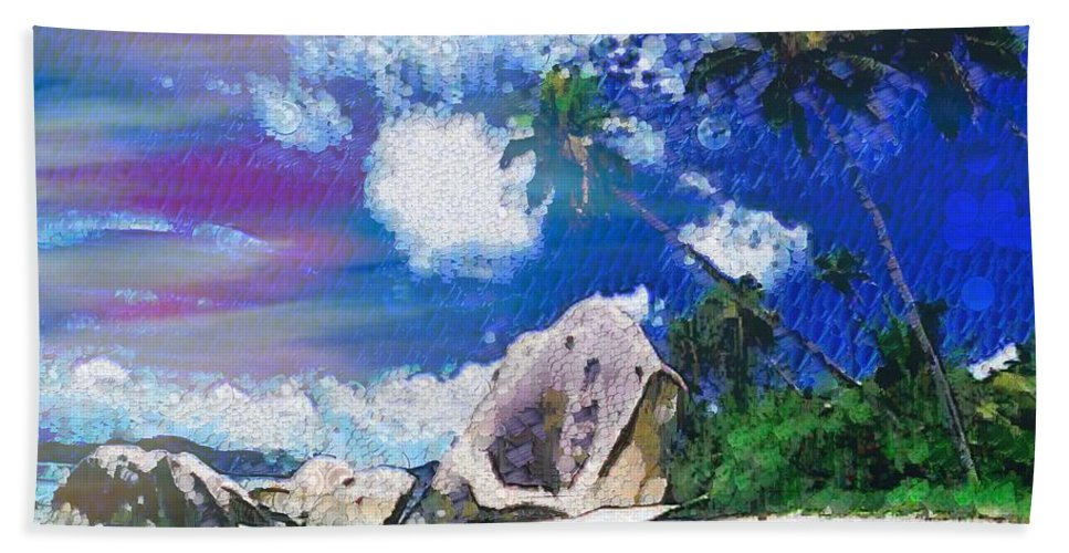 Brilliant Skyline In The Array Int The Mix Beach Towel featuring the painting Brilliant Skyline In The Array Int The Mix by Catherine Lott