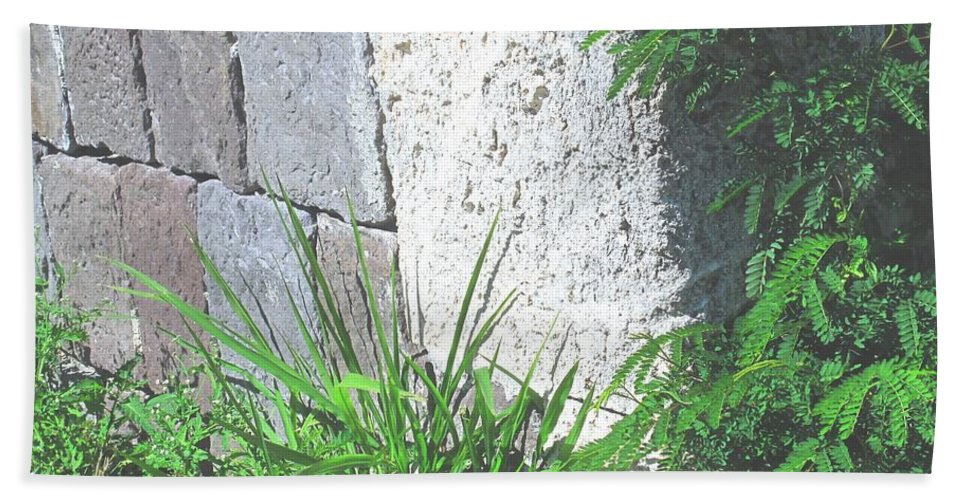 Brimstone Beach Towel featuring the photograph Brimstone Wall by Ian MacDonald