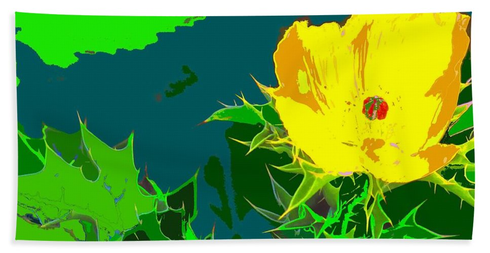 Beach Towel featuring the photograph Brimstone Yellow by Ian MacDonald