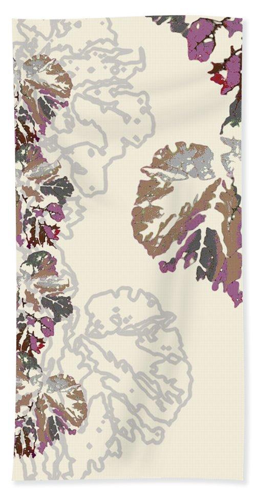 Leaves Beach Towel featuring the digital art Brin by Ceil Diskin
