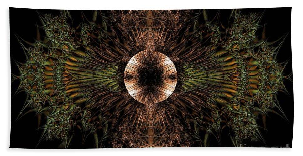 Broach Of Dried Leaves / Warm Beach Towel featuring the digital art Broach Of Dried Leaves / Warm by Elizabeth McTaggart