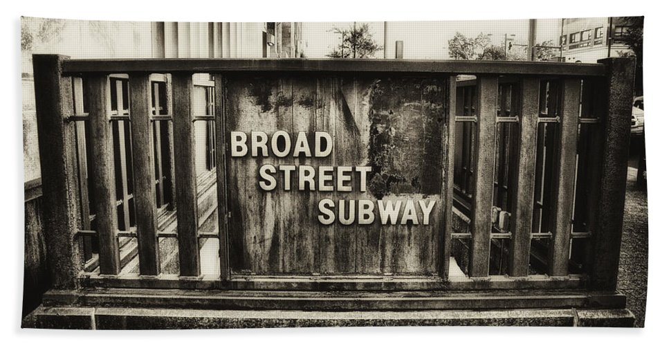 Broad Street Beach Towel featuring the photograph Broad Street Subway - Philadelphia by Bill Cannon