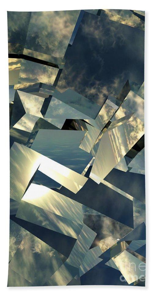 Skies Beach Towel featuring the digital art Broken Sky by Richard Rizzo