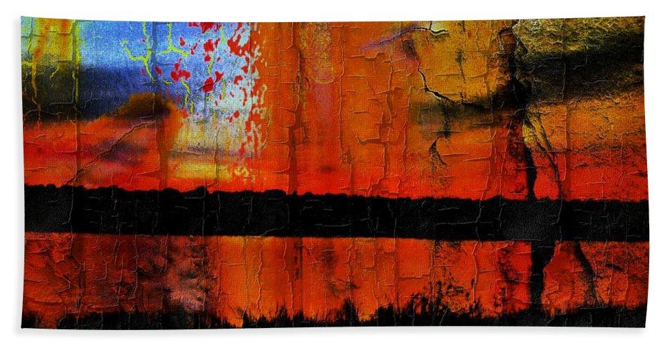 Beach Towel featuring the digital art Broken View by Wesley Nesbitt