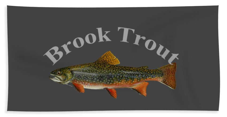 Brook Trout Beach Towel featuring the digital art Brook Trout by T Shirts R Us -