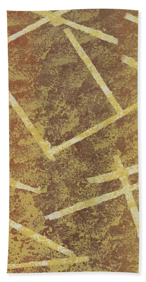 Tan Beach Towel featuring the painting Brown Layers by Jill Christensen